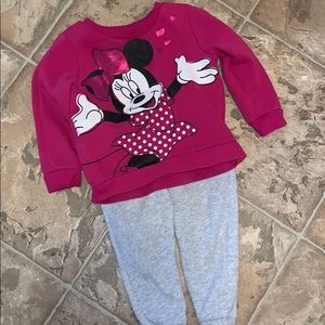 Jumping Beans Minnie Sweatshirt and Sweatpants- 2T
